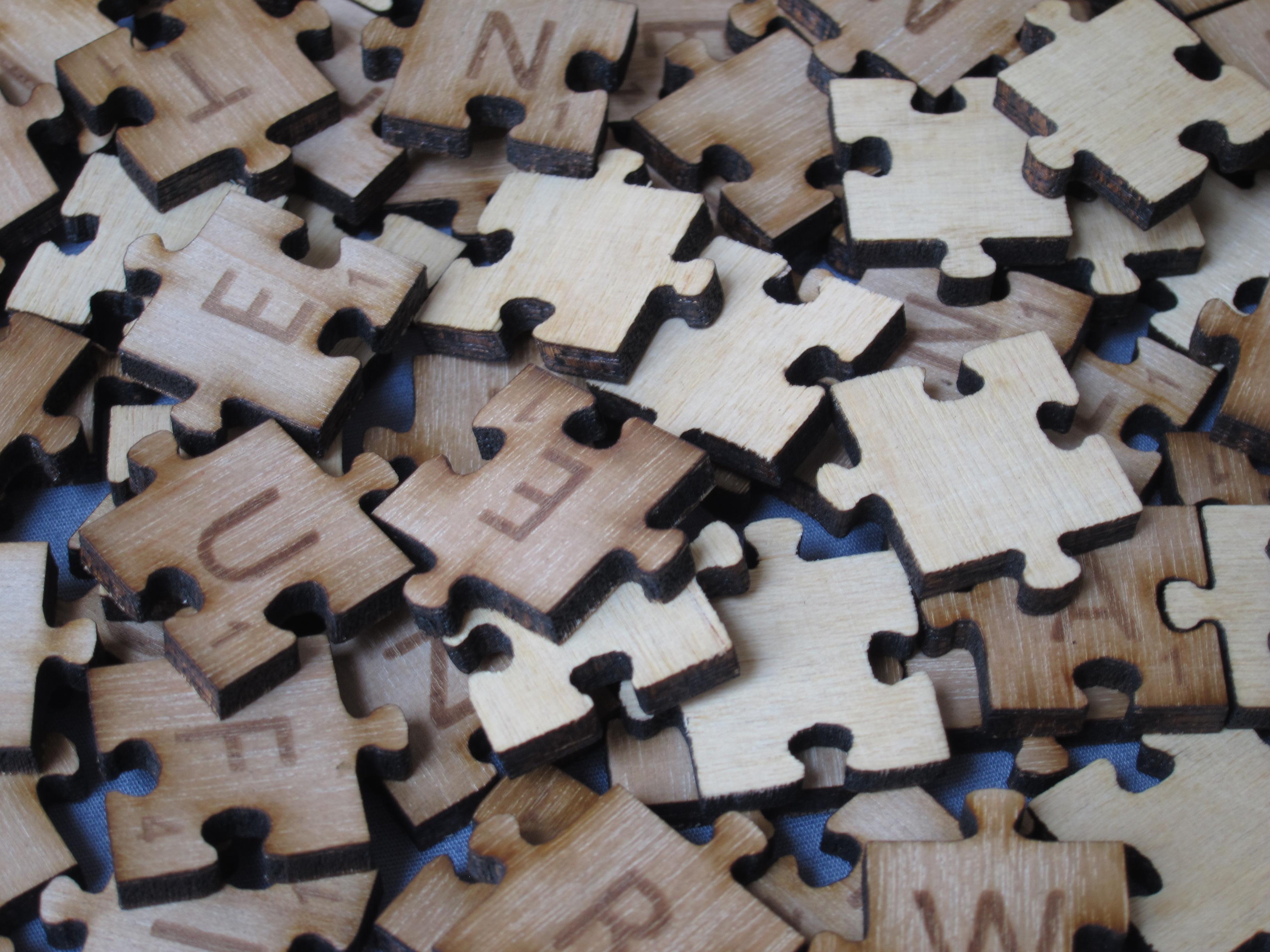 Scrabble stones