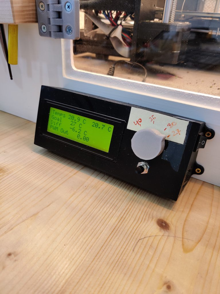 Enclosure PID temperature control